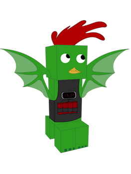 A chicken-creeper-dragon-bomber hybrid