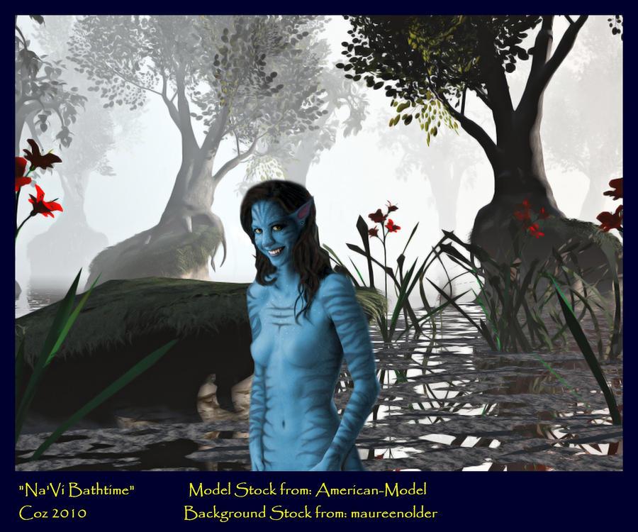 Na'vi Bathtime by Cozwulf