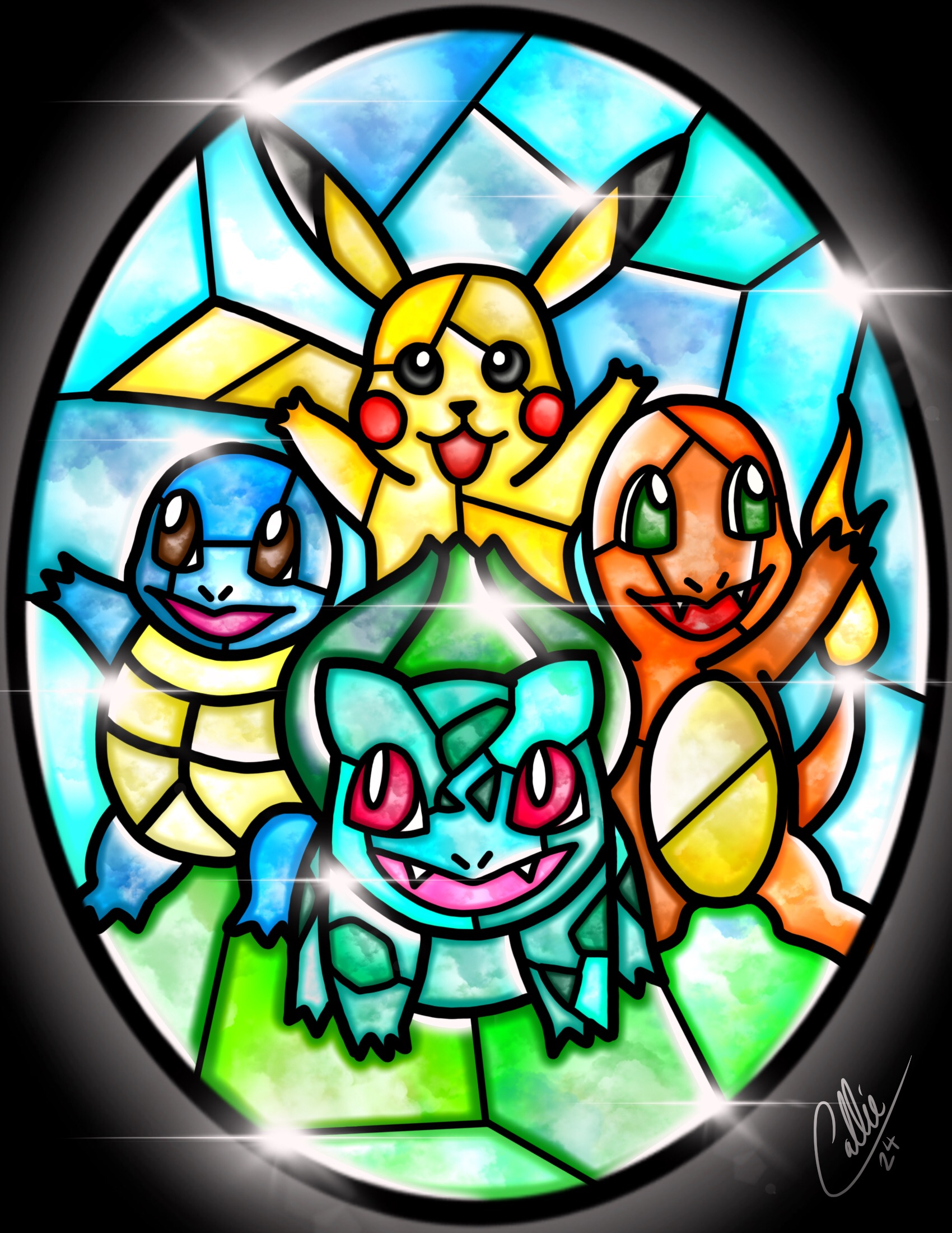 Pokemon Stained Glass Art Images Pokemon Images