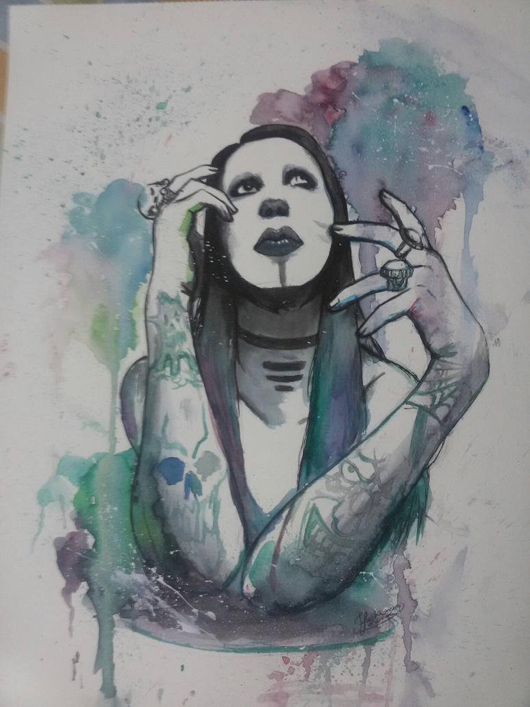 marilyn manson  by lorefachin