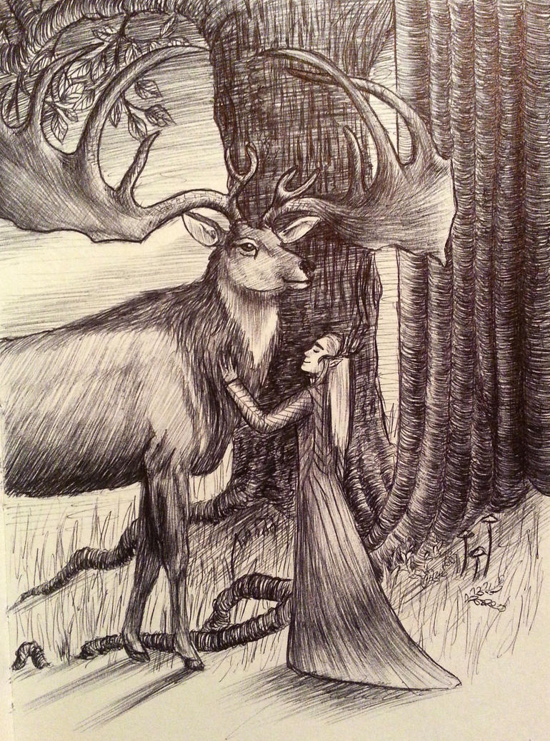 The Elven King and his elk by Oceansoul7777