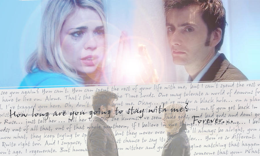 Tenth Doctor And Rose Doomsday Doctor Who Doomsday Wallpaper