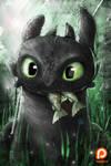Toothless Fanart (Term 4 reward) by Ruby--Art