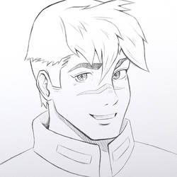 Shiro Voltron Sketch by Ruby--Art