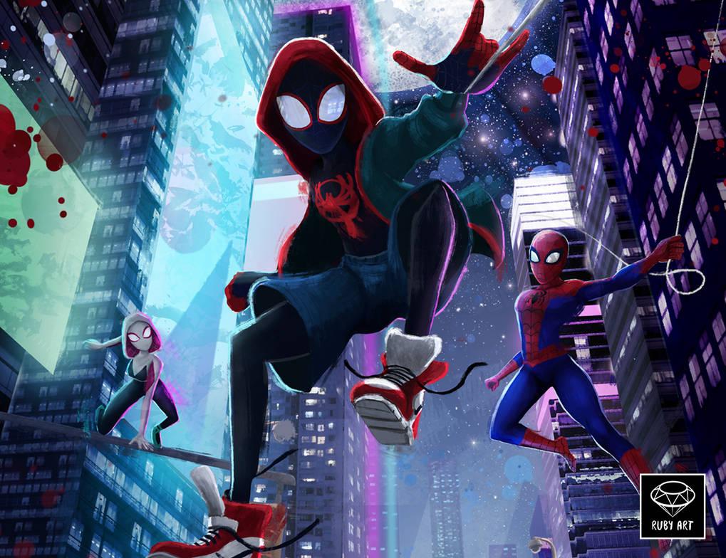 Spider-Man:  Into the Spider-Verse Fanart by Ruby--Art