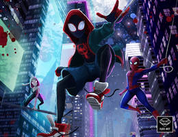 Spider-Man:  Into the Spider-Verse Fanart by Ruby--Art