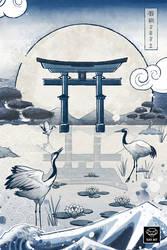 Japan Blue Series - Koi Fish