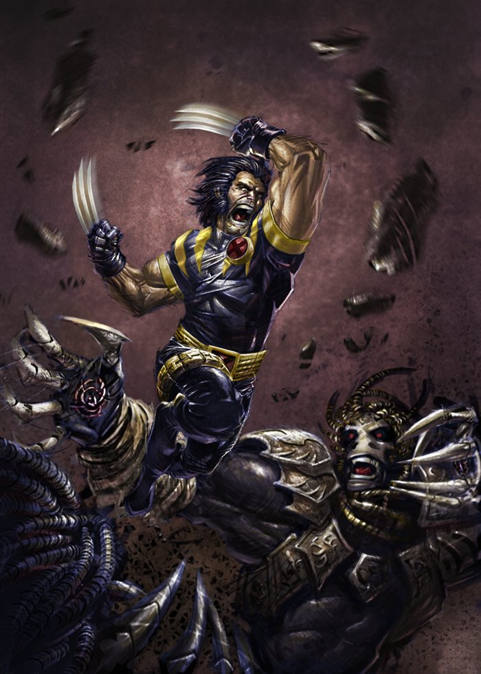 Ultimate Wolverine fighting uh