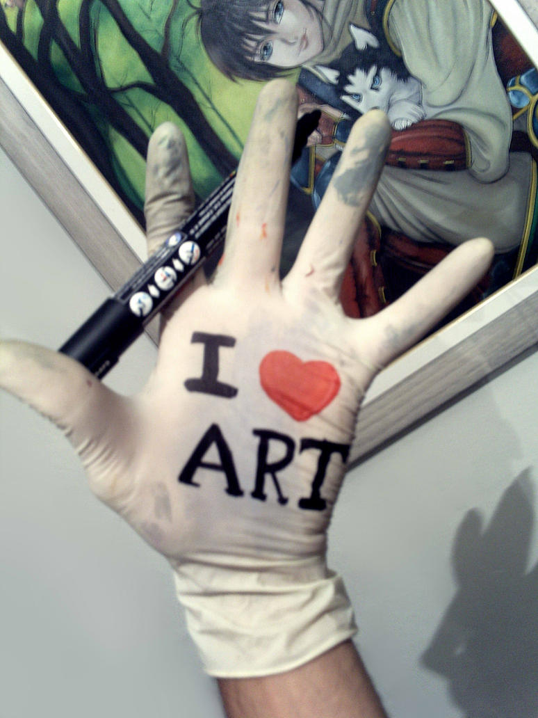 I LOVE ART by carvalhooak