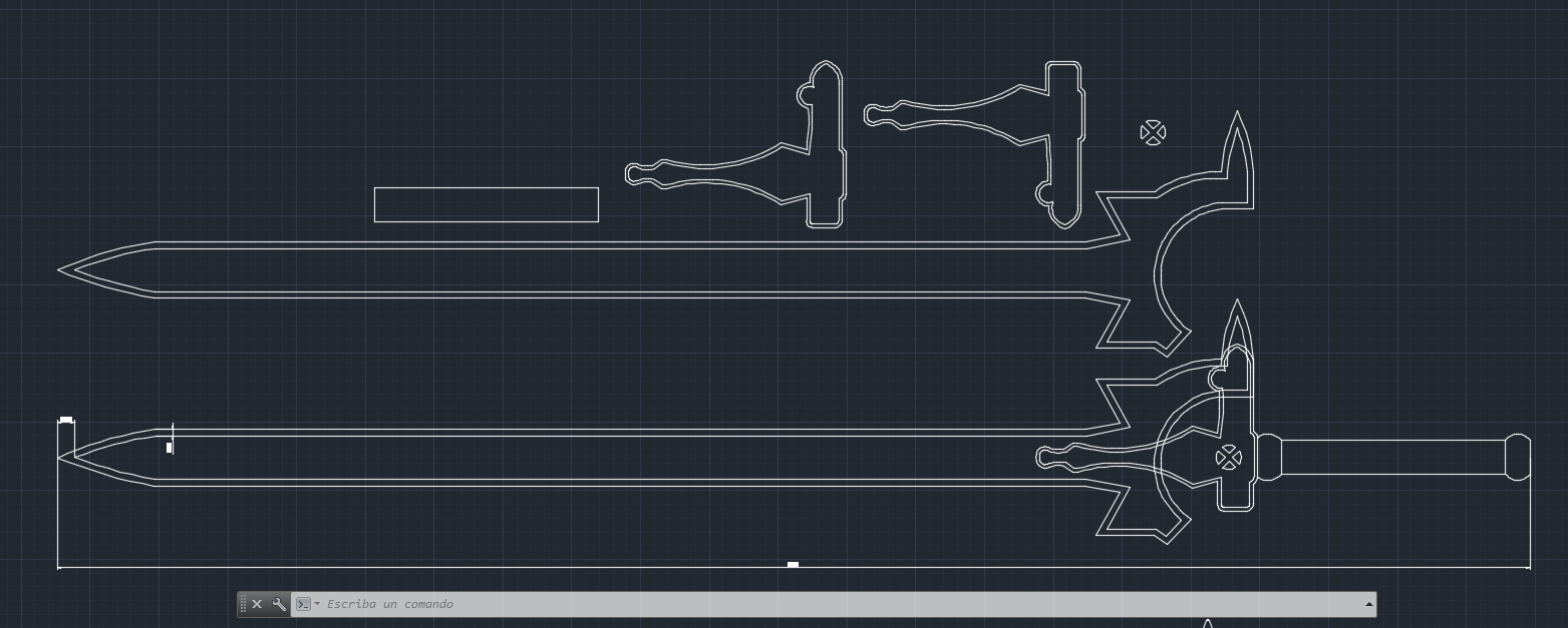 Sao cosplay elucidator sword template by virusvicio on for Making a blueprint online