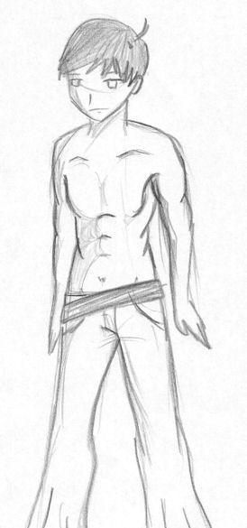 ...boy without shirt by CandySkitty