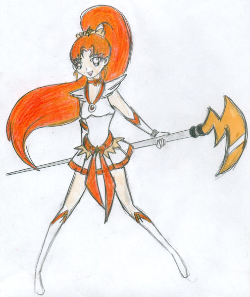 Susan the Tellus Warrior color by CandySkitty