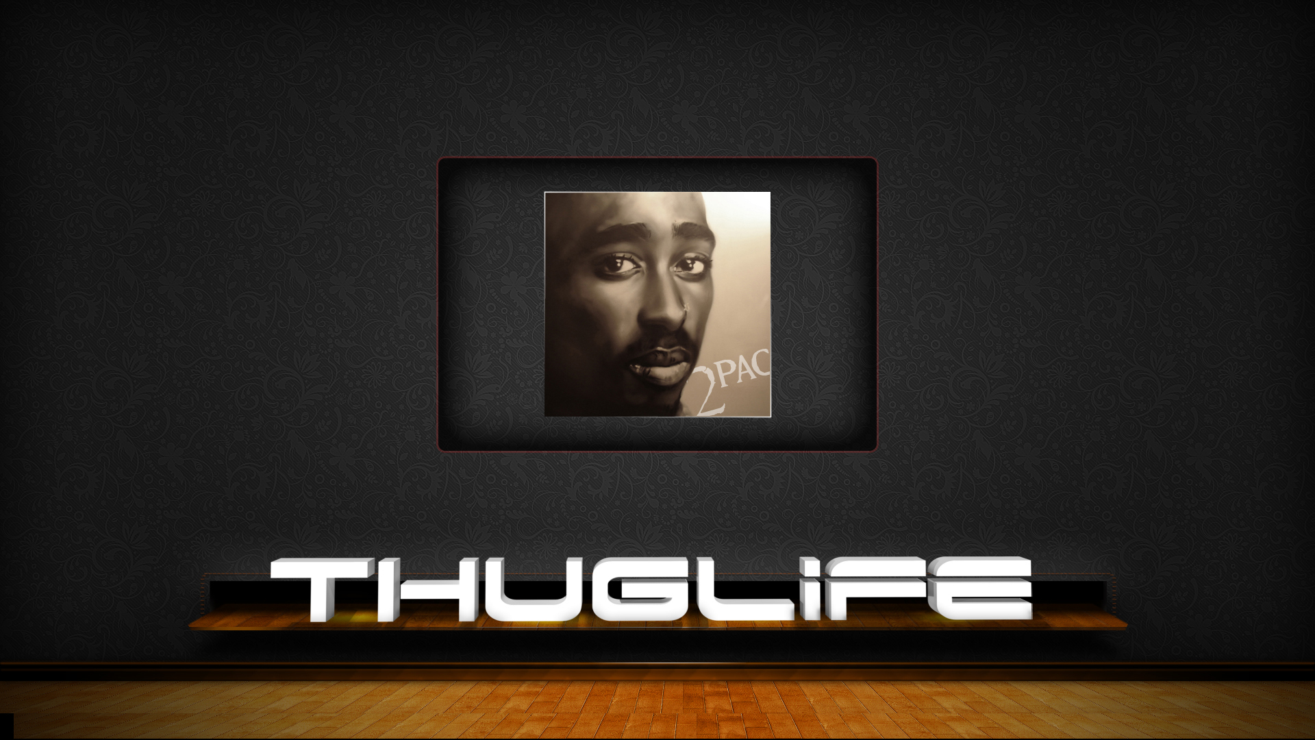 2pac Thug Life Wallpaper 2pac Painting And Thug Life by