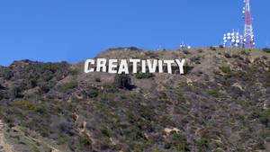 Hollywood style with creativity text