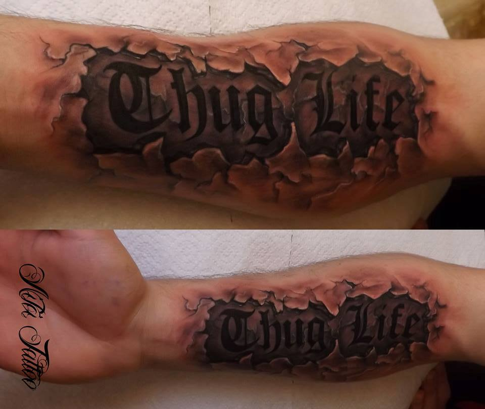 Thug life tattoo meaning
