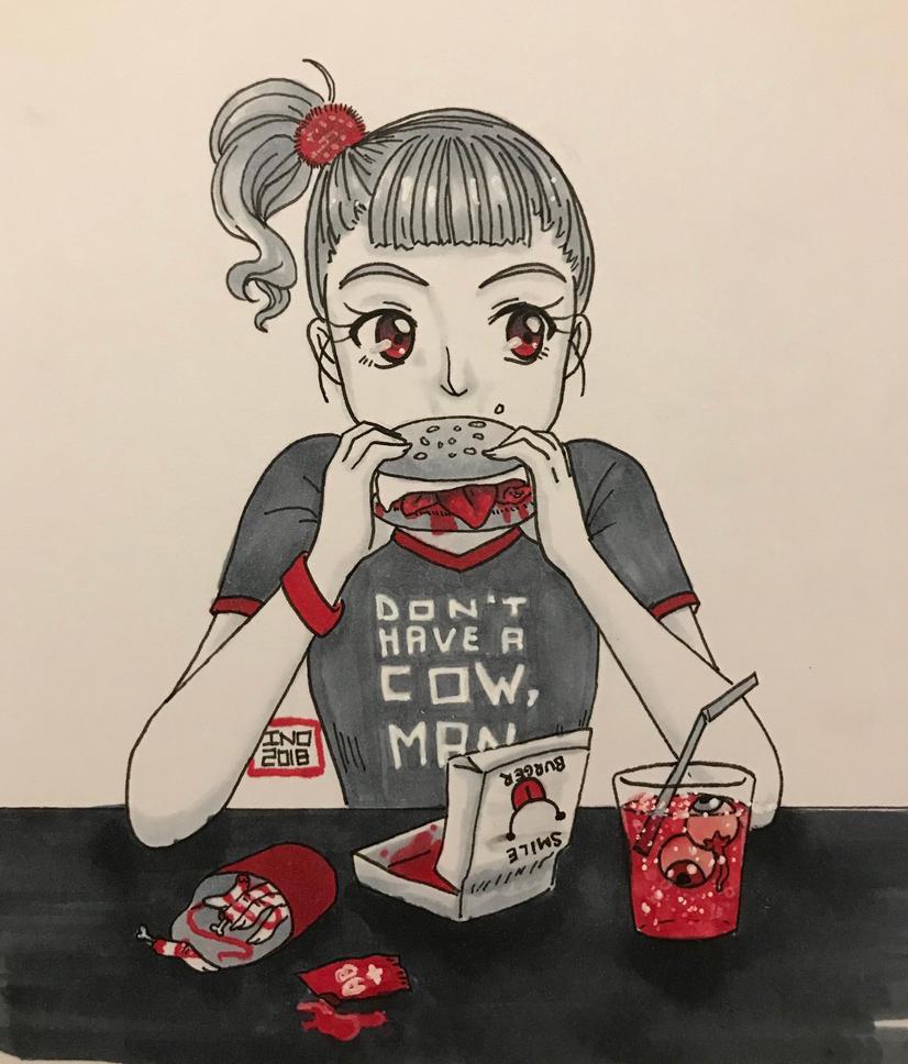 [GORETOBER] Day 14 - Cannibalism by inopochi