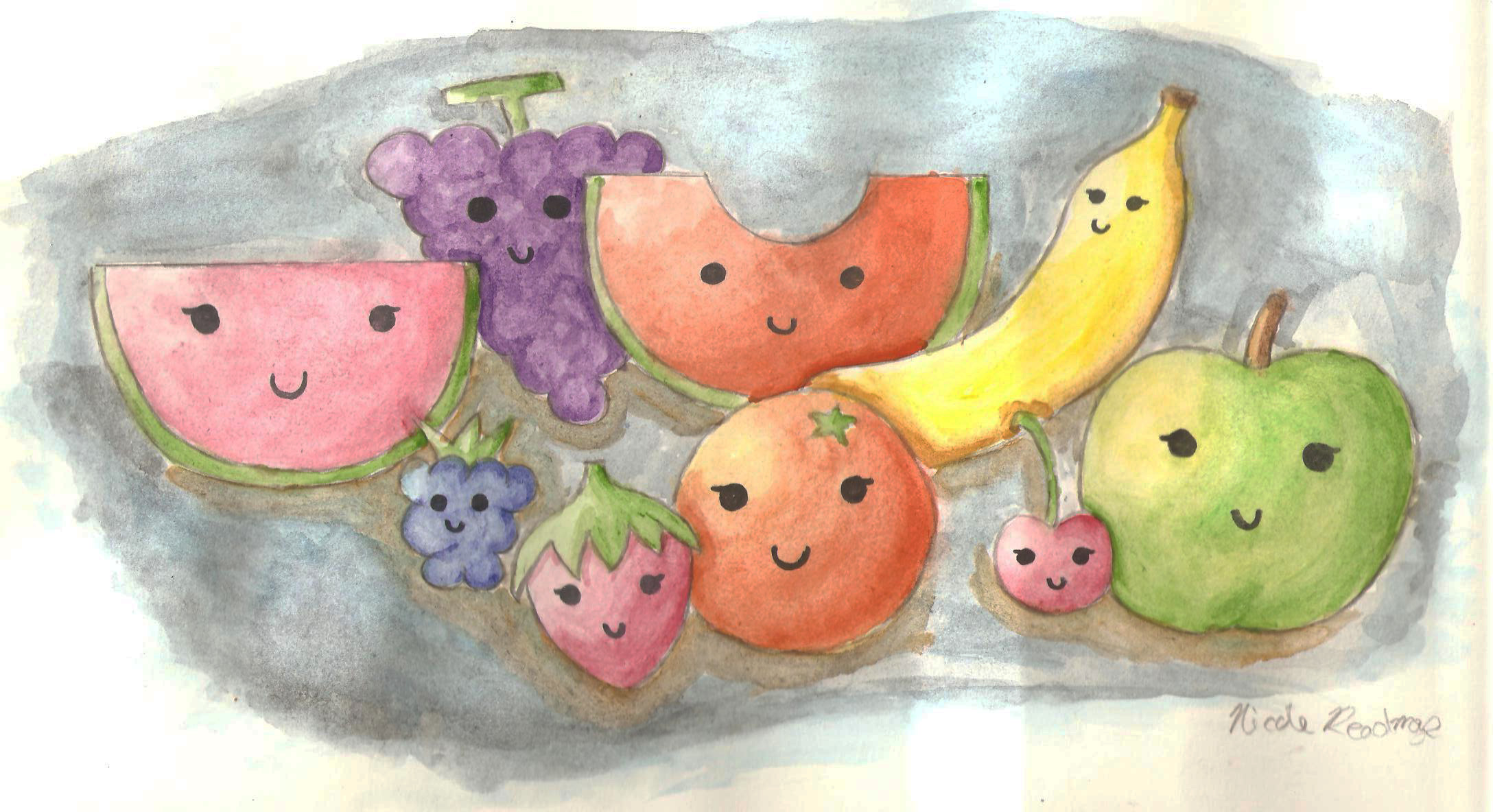 Cute fruit art