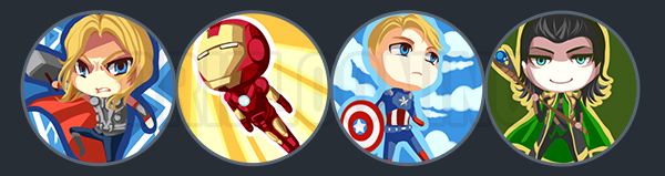 Avengers Buttons by driflooning