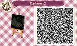 ACNL QR Code - Darkness 2 by Lionwoman