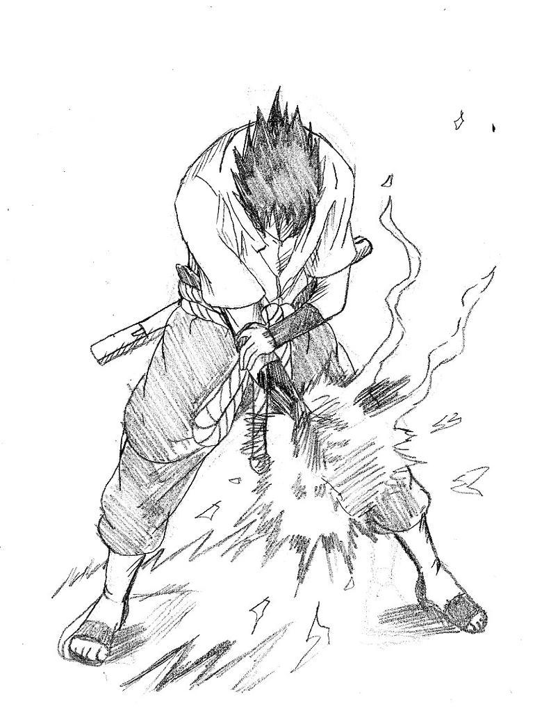 Sasuke Chidori Sketch by cvsnb on DeviantArt