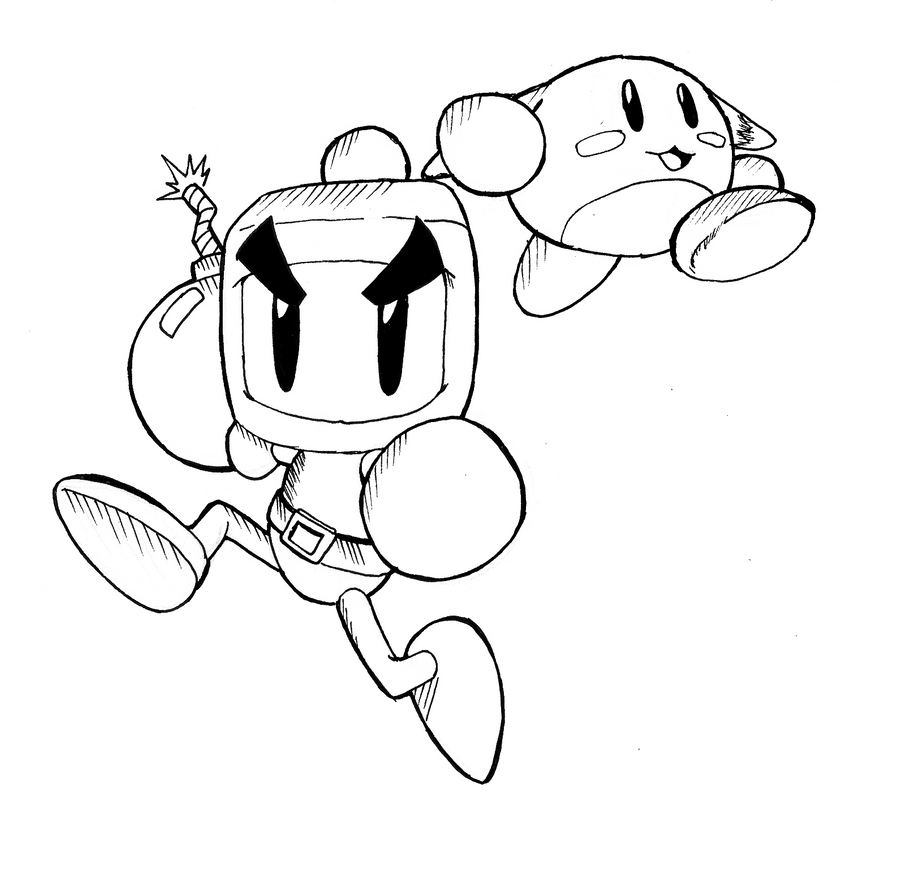 Bomberman coloring pages ~ Bomberman and pommy by cvsnb on DeviantArt