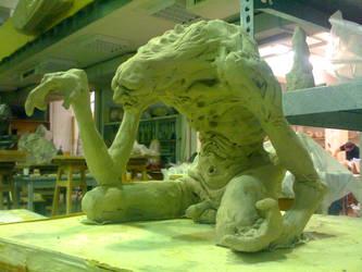 Elder spirit sculpture by Haridimus