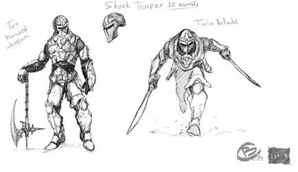 Shock Trooper sketch by Haridimus