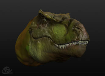 T-Rex 3D concept colored by Haridimus