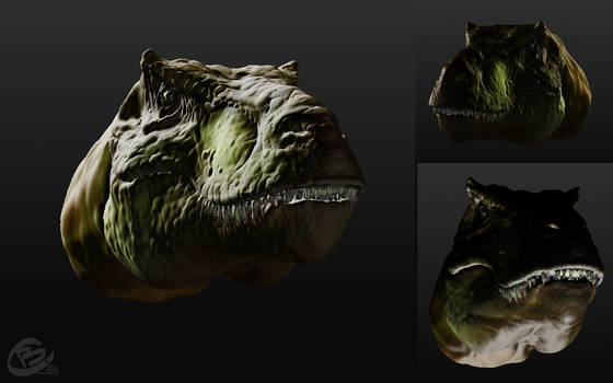 T-Rex 3D lighting concepts by Haridimus