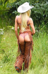 Candice Swanepoel Cowgirl Butt by CelebButt