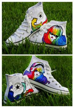 Rainbow Hair Girls Shoes