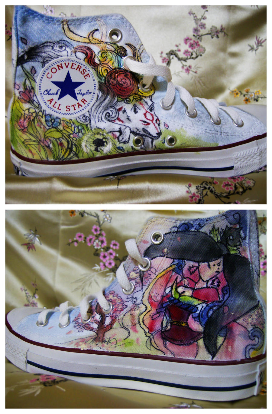 Okami Shoes 2 by pinkbutterflyofdeath