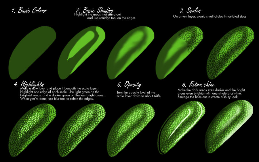 Dragon Scale Tutorial by Kraaku