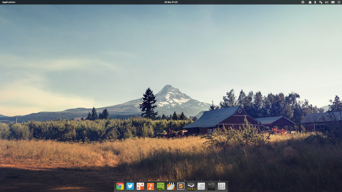 Current desktop @ elementaryOS Luna by blackboxdesign