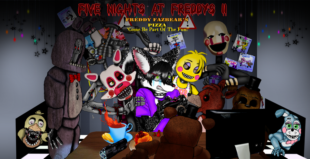 Kiba Playing Five Nights At Freddy's 2 by Blutengle