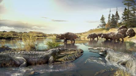 Smilosuchus gregorii and Placerias