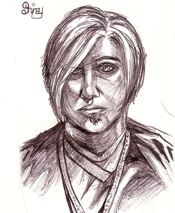 pen and ink sketch by Lockwood
