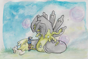 Take it nicely! (Zygarde for Velink) by ClimbTheCastleWalls