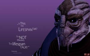 ME Wallpaper - Lifespan Talk by pineappletree