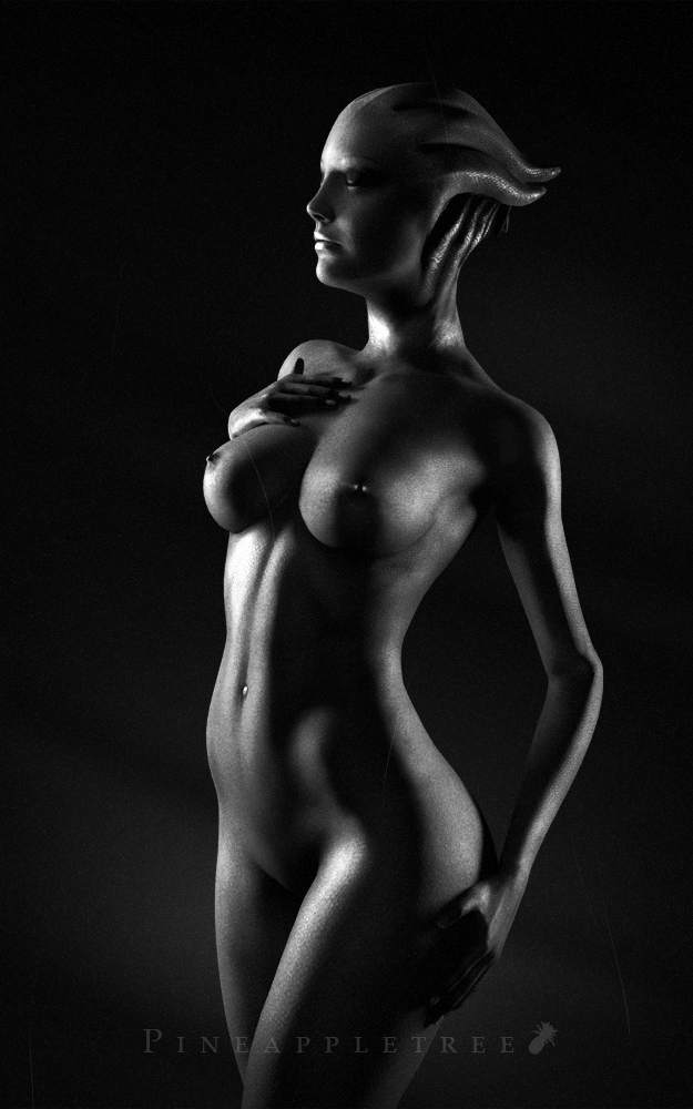 A Photographer on the Citadel - Liara Figure Study by pineappletree