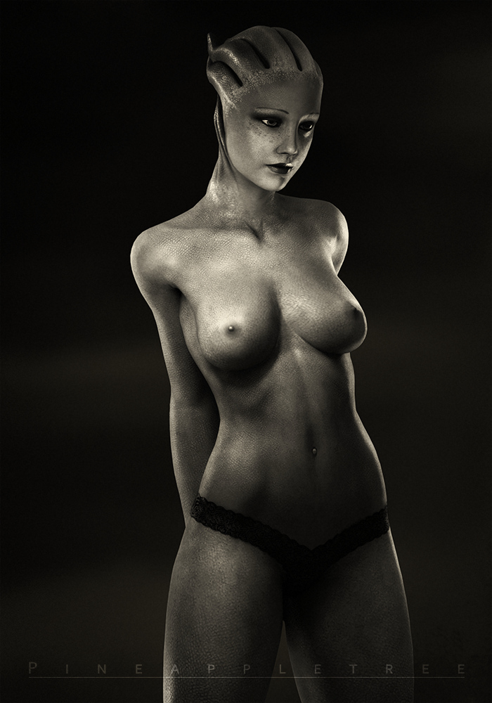 A Photographer on the Citadel - Liara 'Snapshot' by pineappletree