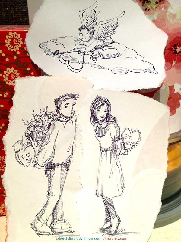 Be Mine Valentine by sketchditto