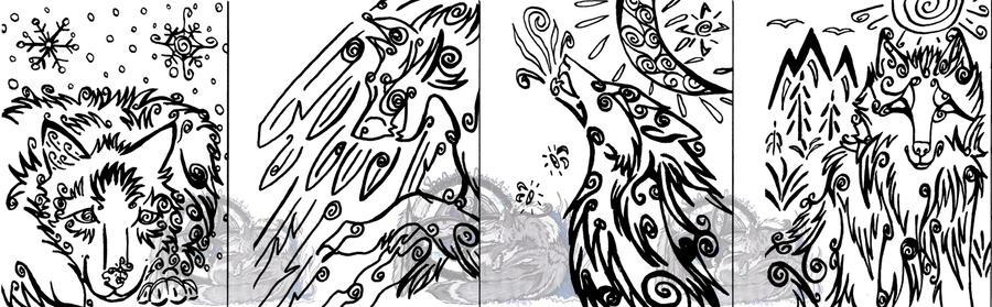 Random Calligraphy Card Set 2 - FOR SALE by ShaQuaVara