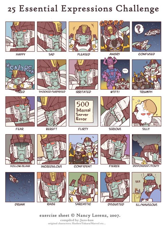 25 Expressions meme by juzo-kun