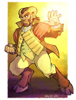 Steampunk character