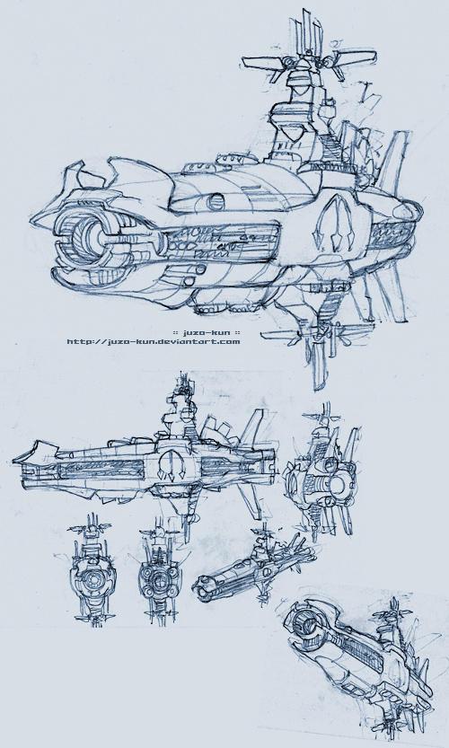 Spaceship sketch II by juzo-kun