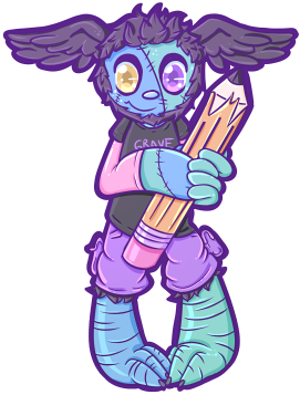 Grave' Pagedoll by graveyardcritter