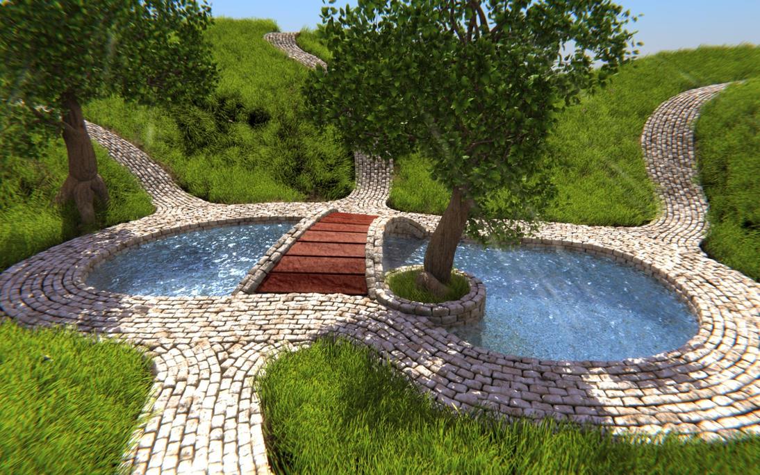 Garden in the Summer by Xels034