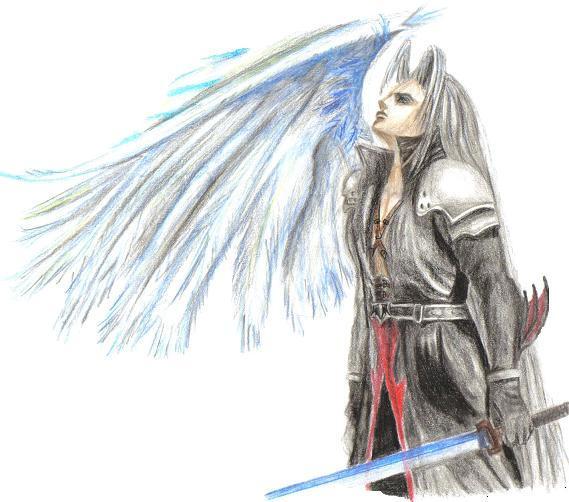Sephiroth-Angel of Light by LadySephiroth