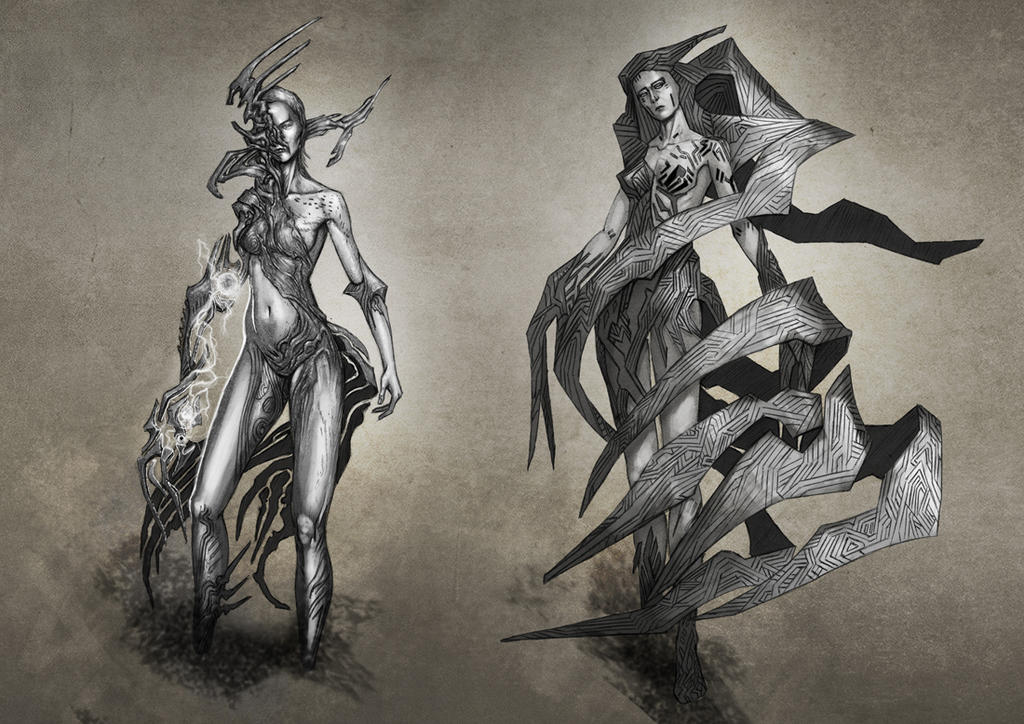 Fantasy Female Character Concepts - 01 by Elder-Of-The-Earth